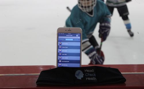The mobile app helps athletic therapists immediately identify concussion